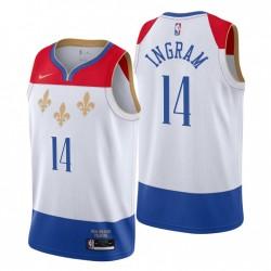2020-21 New Orleans Pelicans Swingman Trikot Brandon Ingram Nr. 14 Stadt Edition Weiß