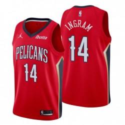 New Orleans Pelicans & 14 Brandon Ingram Swingman Rot Trikot Statement Edition 2020-21