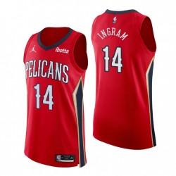 New Orleans Pelicans Trikot Nr. 14 Brandon Ingram Authentic Rot