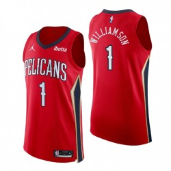 New Orleans Pelicans Trikot Nr. 1 Zion Williamson Authentic Rot