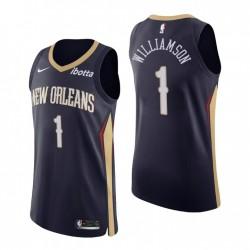 New Orleans Pelicans Trikot Nr. 1 Zion Williamson Authentic Navy