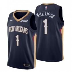 2020-21 New Orleans Pelicans Nein. 1 Zion Williamson Trikot Navy Icon Edition
