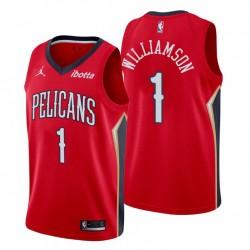 New Orleans Pelicans & 1 Zion Williamson Swingman Rot Trikot Erklärung Ausgabe 2020-21