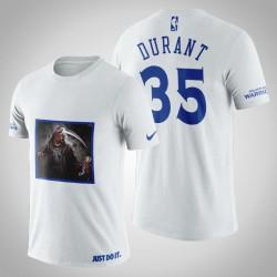 Golden State Warriors Kevin Durant # 35 Weiß Legend Trophy T-Shirt