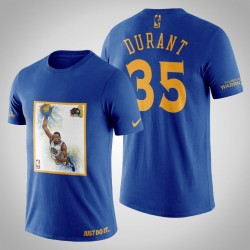 Golden State Warriors Kevin Durant # 35 Navy Legend 2017 Das Finale T-Shirt