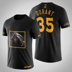 Golden State Warriors Kevin Durant # 35 Black Legend Trophy T-Shirt