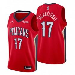 New Orleans Pelicans Erklärung Ausgabe Jonas Valanciunas & 17 Rot Swingman Trikot