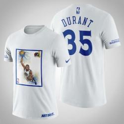 Golden State Warriors Kevin Durant # 35 Weiß Legende 2017 Das Finale T-Shirt