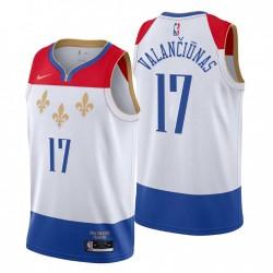 New Orleans Pelicans City Edition Jonas Valanciunas & 17 Weiß Swingman Trikot