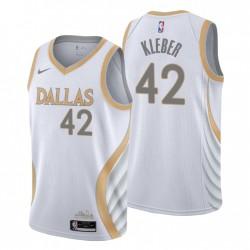 2021-22 Dallas Mavericks Swingman Trikot Maxi Kleber Nr. 42 City Edition Weiß