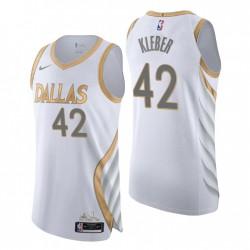 2020-21 Dallas Mavericks Trikot No.42 Maxi Kleber City Edition Weiß