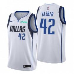 Dallas Mavericks & 42 Maxi Kleber Swingman Weiß Trikot Association Edition 2021