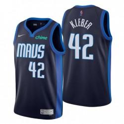 Dallas Mavericks nein. 42 Maxi Kleber Verdiente Edition Navy Trikot