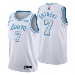 Los Angeles Lakers Swingman Carmelo Anthony Nr. 7 Stadtausgabe Weiß Trikot