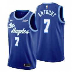 Los Angeles Lakers Hardwood Classics Carmelo Anthony Nr. 7 Blue Swingman V-Ausschnitt Trikot