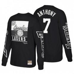 Los Angeles Lakers Big Face 3.0 Hardwood Classics Langarm T-Shirt Carmelo Anthony & 7 Schwarz