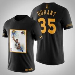 Golden State Warriors Kevin Durant # 35 Black Legend 2017 Das Finale T-Shirt
