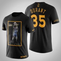 Golden State Warriors Kevin Durant # 35 Black Legend Jumper T-Shirt