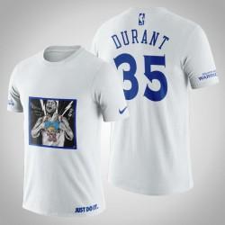 Golden State Warriors Kevin Durant # 35 Weiß Legend Transformation T-Shirt