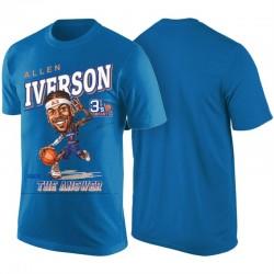 2017 Big3 BACKBALL LEAGUE & 3 Allen Iverson 'The Antwort' Karikatur T-Shirt