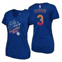 Frauen Philadelphia 76ers Royal Tri-Blend V-Ausschnitt Star Wars Rebel & 3 Allen Iverson T-Shirt