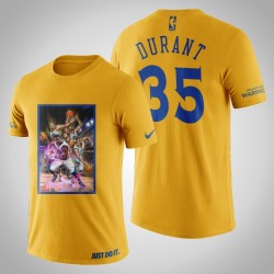 Golden State Warriors Kevin Durant # 35 Gelbe Legend Marvel T-Shirt