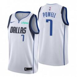 Dallas Mavericks & 7 Dwight Powell Swingman Weiß Trikot Association Edition 2021