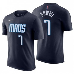 2020-21 Mavericks erwarb EDITION & 7 DWIGHT POWELL NAVY T-Shirt