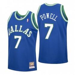 Dwight Powell Nr. 7 Dallas Mavericks Mitchell & Ness Blue Hardwood Classics Trikot