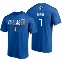 Dallas Mavericks Dunk 2021 NBA Playoffs gebundene blaue Dwight Powell & 7 T-Shirt