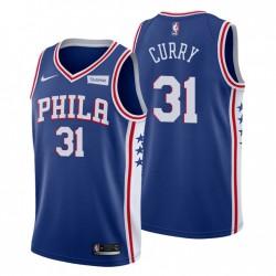2020-21 Philadelphia 76er & 31 Seth Curry Trikot Blue Icon Edition