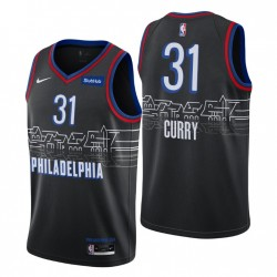 Philadelphia 76er City Edition Seth Curry Nr. 31 Schwarz Swingman Trikot