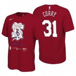Philadelphia 76er Mantra 2021 NBA Playoffs Rot Seth Curry & 31 T-Shirt