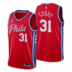 Philadelphia 76ers Statement Edition Trikot Seth Curry 31 rot 2020-21