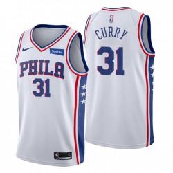 NEIN. 31 Seth Curry Philadelphia 76ers Swingman Weiß Trikot Association Edition