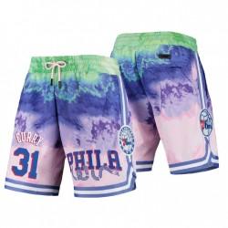Philadelphia 76er Pro Standard & 31 Seth Curry Multicolor Dip-Farbstoff-Shorts