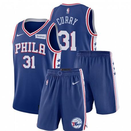 Nike Philadelphia 76ers Seth Curry & 31 Royal Icon Edition Gym Outfits