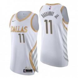 2020-21 Dallas Mavericks Trikot No.11 Tim Hardaway Jr. City Edition Weiß