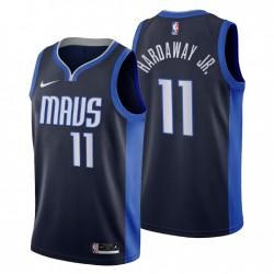 2020-21 Dallas Mavericks No.11 Tim Hardaway Jr. Verdienste Ausgabe Trikot Navy