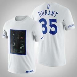 Golden State Warriors Kevin Durant # 35 Weiß Legend Tod T-Shirt