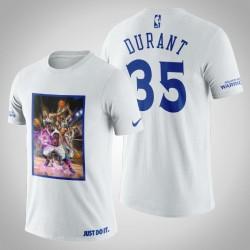 Golden State Warriors Kevin Durant # 35 Weiß Legend Marvel T-Shirt
