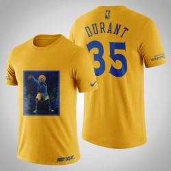 Golden State Warriors Kevin Durant # 35 Yellow Legend Mitternachts T-Shirt