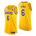 Los Angeles Lakers # 6 LeBron James Gold Authentic Icon Edition 2021-22 Trikot