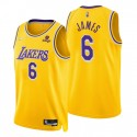 2021-22 Los Angeles Lakers Lebron James # 6 75th Jubiläum Diamant Gold Swingman Trikot-Symbol
