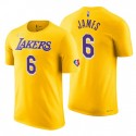 Los Angeles Lakers Lebron James # 6 75th Jubiläum Diamant Gold T-Shirt