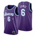 Los Angeles Lakers Lebron James # 6 Mixtape Edition Purple Trikot Feiern von NBA 75.