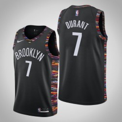 Männer Brooklyn Nets Kevin Durant & 7 Black City Jersey