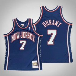 Männer New Jersey Nets Kevin Durant & 7 Blue 2006-07 Holz Classics Throwback authentisches Jersey