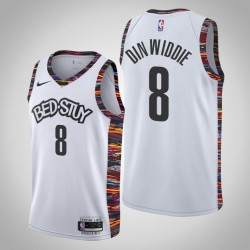 2019-20 Nets Spencer Dinwiddie # 8 White City Trikot