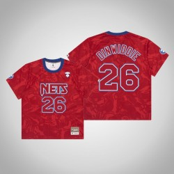 Nets Spencer Dinwiddie # 26 AAPE x Mitchell Ness Swingman Holz Classics Trikot Red